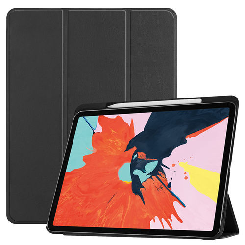 Trifold Smart Case Stand for 2018 Apple iPad Pro (12.9-Inch) - Black